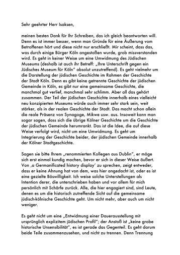 Prof. Dr. Werner Eck - Haus der Kölner Geschichte
