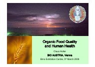 Organic Food Quality and Human and Human Health - Bio do škol
