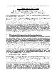 biblischen Offenbarung - Theologie-Skripten
