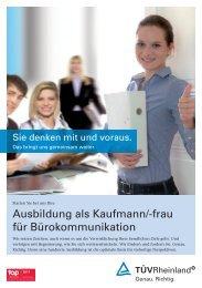 Ausbildung als Kaufmann/-frau für Bürokommunikation - Tuv