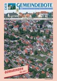 Ausgabe :Gomaringen 18.06.11.pdf - Gomaringer Verlag