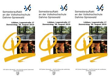 Semesterauftakt an der Volkshochschule Dahme-Spreewald ...