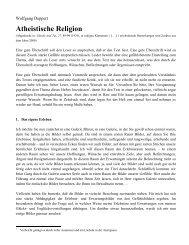 Wolfgang Deppert, Atheistische Religion