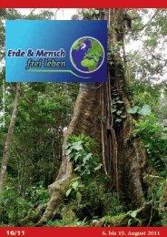 6. bis 19. August 2011 - Erde und Mensch