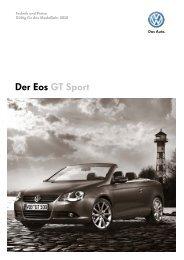 Der Eos GT Sport - Autohaus Perski ohg