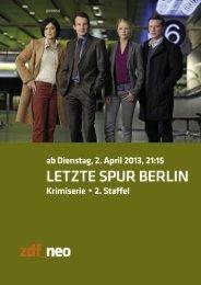 Letzte Spur Berlin - pr agentur deutz