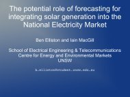 The potential role of forecasting for integrating solar generation into ...