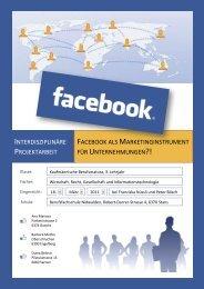Facebook als Marketinginstrument für Unternehmungen ?!