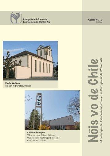 NVC3 Mai, Juni 2013 def 1.indd - Kirchgemeinde Wohlen