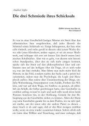 Adalbert Stifter Die drei Schmiede ihres Schicksals