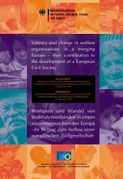 the role and development of welfare organisations - Soziale Dienste ...
