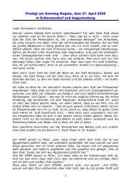 Predigt am Sonntag Rogate, dem 27. April 2008 in Erdmannsdorf ...
