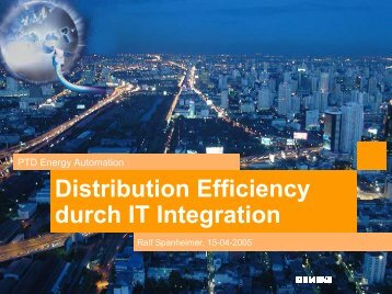 Distribution Efficiency durch IT Integration - Life needs Power