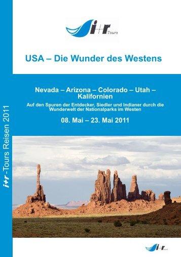 """USA - Die Wunder des Westens"" als PDF - Ir-tours.de"