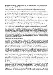Redebeitrag. - Alternative Kommunalpolitik
