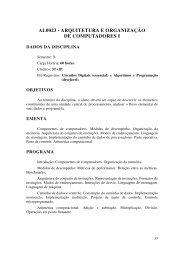 al0023 - arquitetura e organização de computadores i - UNIPAMPA ...