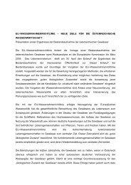 EU–WASSERRAHMENRICHTLINIE – NEUE ZIELE ... - Vorarlberg