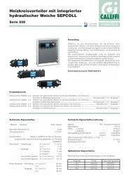 Heizkreisverteiler mit integrierter hydraulischer Weiche ... - Caleffi