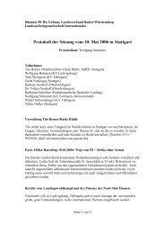 Protokoll der Sitzung vom 10. Mai 2006 in Stuttgart - LAG ...
