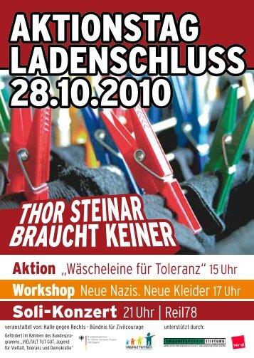 AKTIONsTAg LADENsCHLUss 28.10.2010 AKTIONsTAg ...