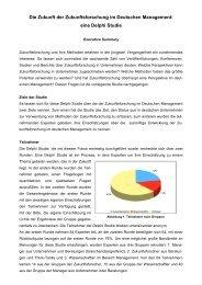 Die Zukunft der Zukunftsforschung im Deutschen Management: eine ...