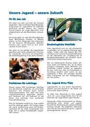 Unsere Jugend -unsere Zukunft (PDF) - Vorarlberger Freiheitliche