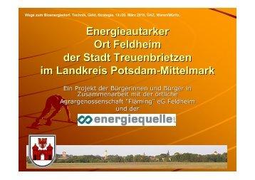 Michael Knape: Energieautarker Ort Feldheim. Wege zum ...