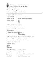 Graduate Reading List