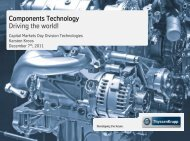 Components Technology Driving the world! - ThyssenKrupp