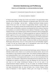 Chancen und Problemfelder im orthodox-katholischen ... - Renovabis