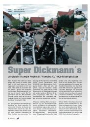 Vergleichstest Triumph Rocket III vs. Yamaha XV ... - Kultourbikes.de