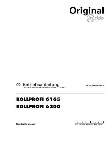 ROLLPROFI 6165 ROLLPROFI 6200 Betriebsanleitung