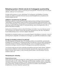 Refeeding syndrom. Klinisk instruks for forebyggelse og behandling