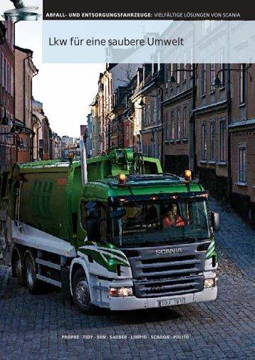 Lkw für eine saubere Umwelt