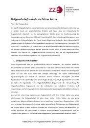 Unser Verständnis von Zivilgesellschaft zze - Zentrum für ...