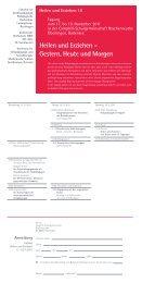 Heilen und Erziehen - Konferenz für Heilpädagogik und ...