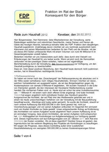 A5 Haushaltsrede FDP_1.pdf - Stadt Kevelaer