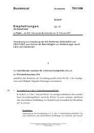 Bundesrat 751/1/06 Empfehlungen - Umwelt-online