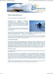 K&T Newsletter zum Ausdrucken - Kaufhold & Team GmbH