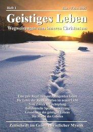 GL 1/2005 - der Lorber-Gesellschaft eV