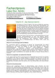 Vitamin D Patienteninfo - Facharztpraxis Labor Doz. Schön