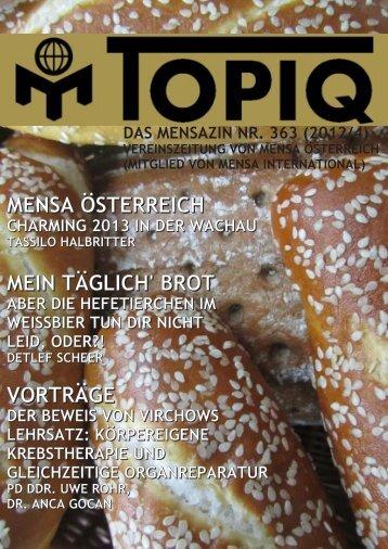 mensa international - Mensa Österreich