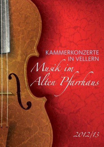 Programmheft Saison 2012/2013 - Kammermusik Vellern