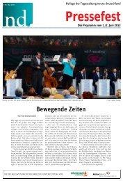 Bewegende Zeiten - ND - Pressefest 2013