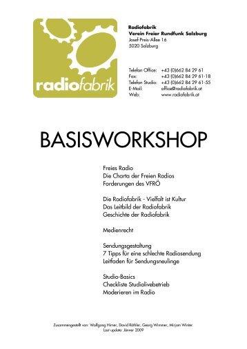 BASISWORKSHOP - Verband Freier Radios Österreich