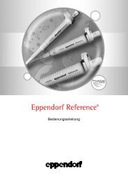 Eppendorf Reference Bedienungsanleitung - biovendis-products