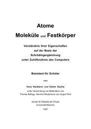 Atome Moleküle und Festkörper - Institut für Didaktik der Physik ...