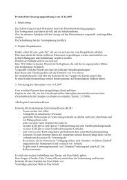 Protokoll der Steuergruppensitzung vom 13.12.2007 1. Schulvertrag ...