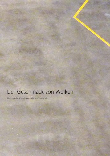 """""""Der Geschmack von Wolken""""/PDF - Sibylla Weisweiler"""