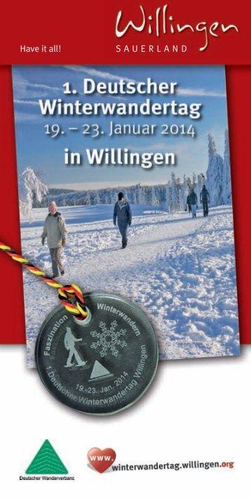 1. Deutscher Winterwandertag 2014